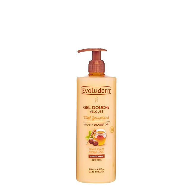 Evoluderm Sametový sprchový gel s medem a bambuckým máslem (Velvety Shower Gel) 500 ml