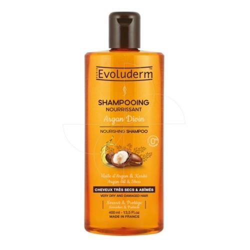 Evoluderm Vyživující šampon pro velmi suché a poškozené vlasy s arganovým olejem (Nourishing Shampoo Argan Divin) 400 ml