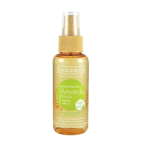 Evoluderm Skrášľujúce olej na pleť a vlasy s výťažkom z mandlí (Beauty Oil With Sweet Almond) 100 ml