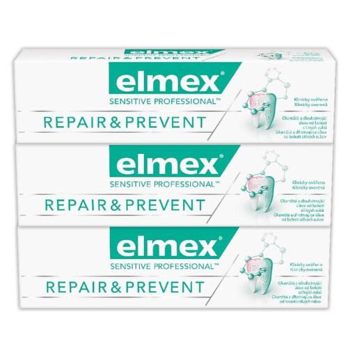 Elmex Zubní pasta pro úlevu od bolesti Sensitive Professional Repair & Prevent Trio 3 x 75 ml