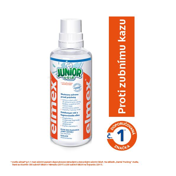 Elmex Ústna voda Junior 400 ml