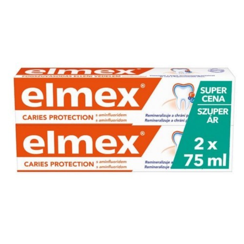 Elmex Zubná pasta Anti Caries Protection Duopack 2 x 75 ml