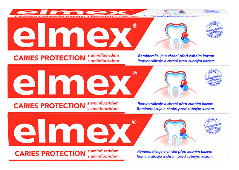 Elmex Zubná pasta Caries Protection 3 x 75 ml
