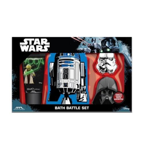 EP Line sprchový gel 30 ml + houba + hračka Star Wars dárková sada