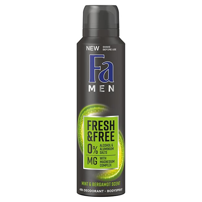 Fa Deodorant ve spreji Men Fresh & Free Mint & Bergamot (48h Deodorant Bodyspray) 150 ml