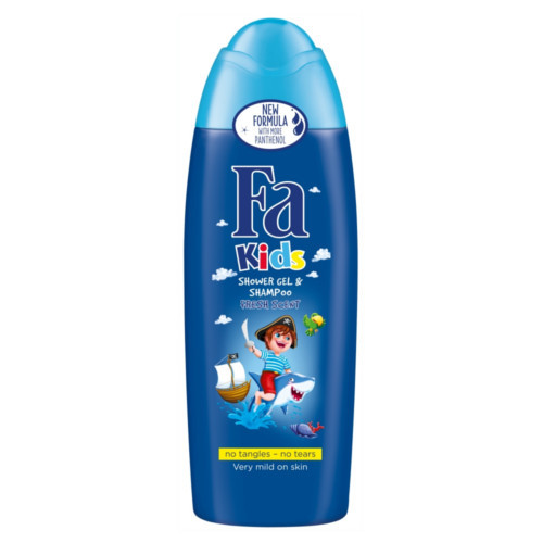 Fa Sprchový gel a šampon se svěží vůní Kids (Shower Gel & Shampoo) 250 ml