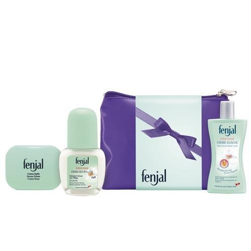Fenjal krémové mýdlo 100 g + krémový deodorant roll-on Intensive 50 ml + tělové mléko Vitality 30 ml + Neceser dárková sada