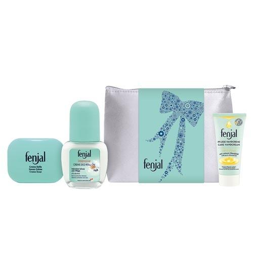 Fenjal krémové mýdlo 10 ml + Intensive Deo Roll-on 5 ml Intensive krém na ruce 15 ml + Neceser dárková sada