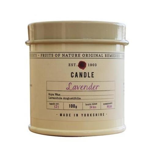 Fikkerts Vonná svíčka v plechu Levandule (Candle) 100 g