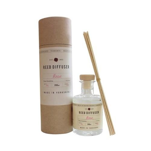 Fikkerts Vonný difuzér Ruže (Reed Diffuser) 200 ml