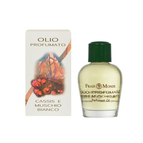 Frais Monde Parfémovaný olej Černý rybíz a bílý mošus (Cassis And White Musk Perfumed Oil) 12 ml