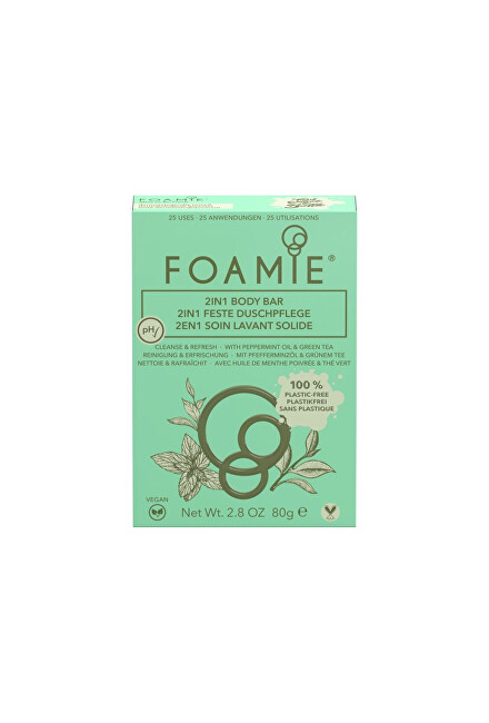 Foamie Sprchové mýdlo 2 v 1 Mint to Be Fresh 2 in 1 Body Bar 80 g