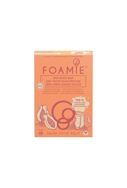 Foamie Sprchové mýdlo 2 v 1 Oat to Be Smooth 2 in 1 Body Bar 80 g