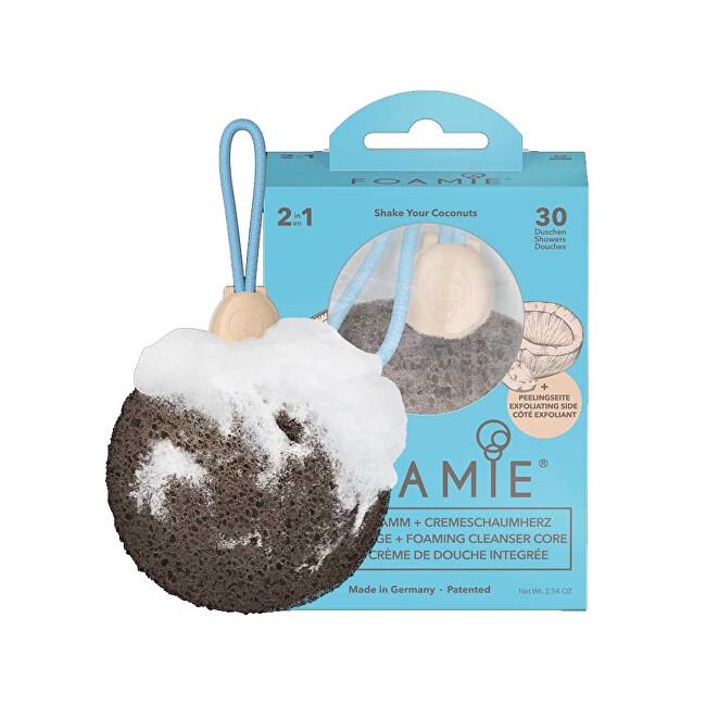 Foamie Jemná čisticí houba a mýdlo do sprchy Shake Your Coconuts 72 g
