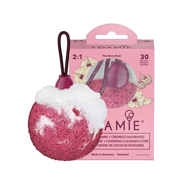Foamie Jemná čisticí houba a mýdlo do sprchy The Berry Best 72 g