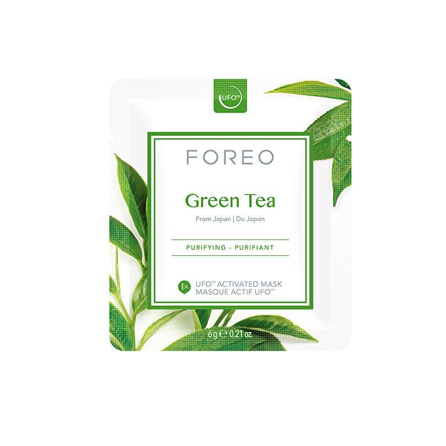 FOREO Osvěžující a zklidňující pleťová maska Green Tea (Purifying Mask) 6 x 6 g