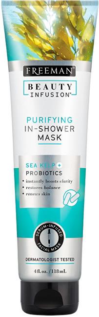 Freeman Čistiaca maska do sprchy Morské riasy + Probiotiká + sérum Beauty Infusion 118 ml