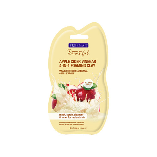 Freeman Multifunkčná pleťová maska s jablčným octom (Apple Cider Vinegar 4-in-1 Foaming Clay) 15 ml