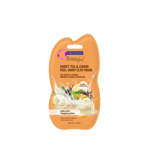Freeman Feeling Beautiful kaolínová pleťová maska bez parabénov Sweet Tea & Lemon (Peel-Away Clay Mask) 175 ml
