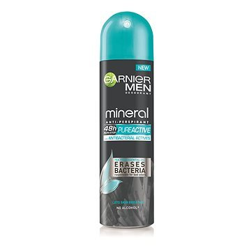 Garnier Antiperspirant antibacterian in spray pentru bărbați ( Mineral Pure Active Anti-Perspirant) 150 ml