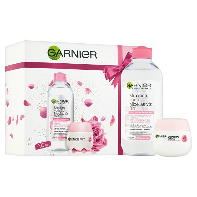 Garnier pleťovej starostlivosti Skin Natura l s: Micelárna voda (Solution Micellaire) 400 ml + Pleť ový krém s ružovou vodou 3v1 Skin Natura l Darčeková sada