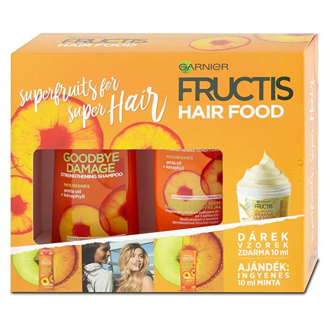 Garnier Dárková sada pro poškozené vlasy Fructis Hair Food - SLEVA - poškozená krabička