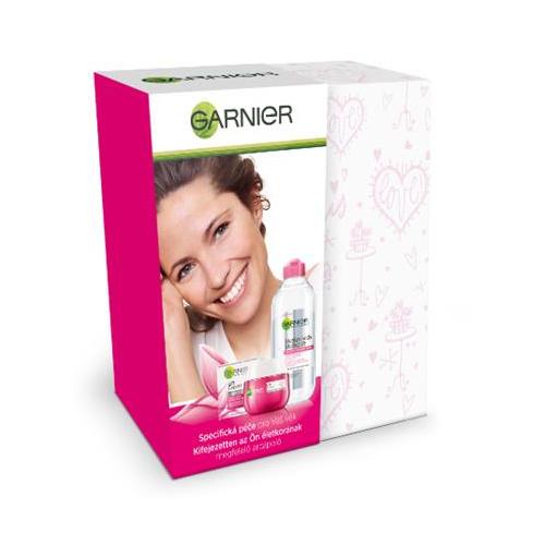 Garnier Skin Essential 45+ omlazující denní krém 50 ml + micelární voda 400 ml dárková sada