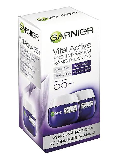 Garnier Visible Rejuvenation 55+ denný a nočný krém proti vráskam 2 x 50 ml darčeková sada