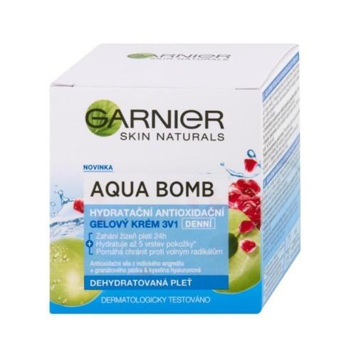 Garnier Denní hydratační antioxidační gelový krém 3v1 Skin Naturals (Aqua Bomb) 50 ml - SLEVA - poškozená krabička