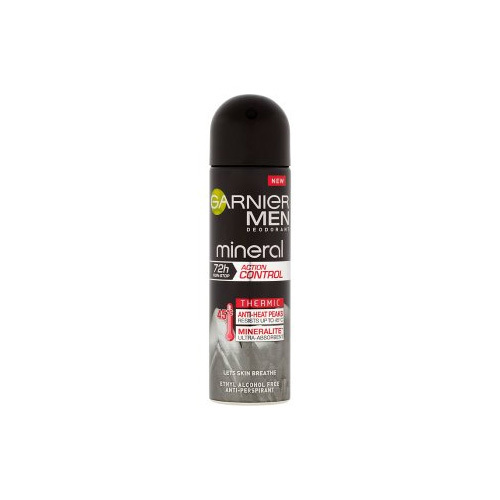 Garnier Antiperspirant deodorant spray de bărbați 72H Action Control Mineral 150 ml