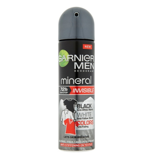 Garnier Antiperspirant spray de bărbați 72H Mineral Invisible 150 ml