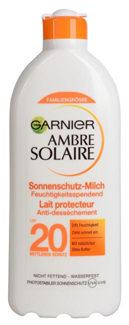 Garnier Mléko na opalování na světlou, již opálenou pokožku Ambre Solaire SPF 20 400 ml