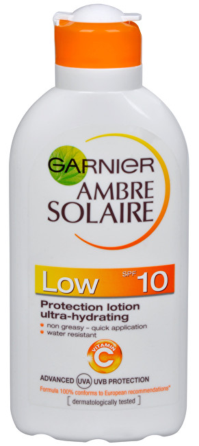 Garnier Opalovací mléko Ambre Solaire SPF 10 (Protection Lotion Ultra-Hydrating) 200 ml