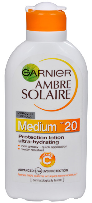 Garnier Opaľovacie mlieko Ambre Solaire SPF 20 (Protection Lotion Ultra-Hydrating) 200 ml