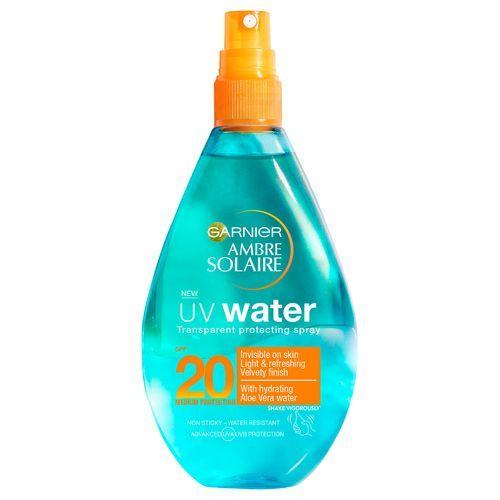 Garnier Sluneční ochrana čirá voda SPF 20 (UV Water Clear Sun Cream Spray SPF 20) 150 ml