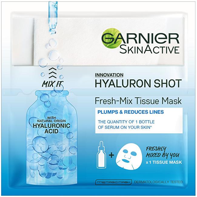 Garnier Textilní maska s kyselinou hyaluronovou pro hydratovanou a vypnutou pleť (Fresh Mix Tissue Mask) 33 g