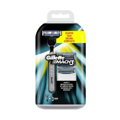 Gillette Holicí strojek Gill Mach 3 + náhradní hlavice 4 ks