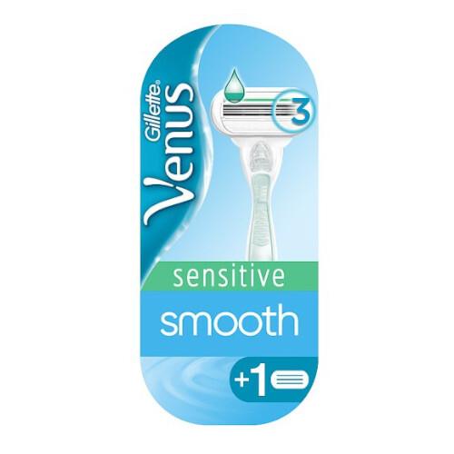 Gillette Holiaci strojček Venus Smotth Sensitiv e + náhradné hlavice 2 ks