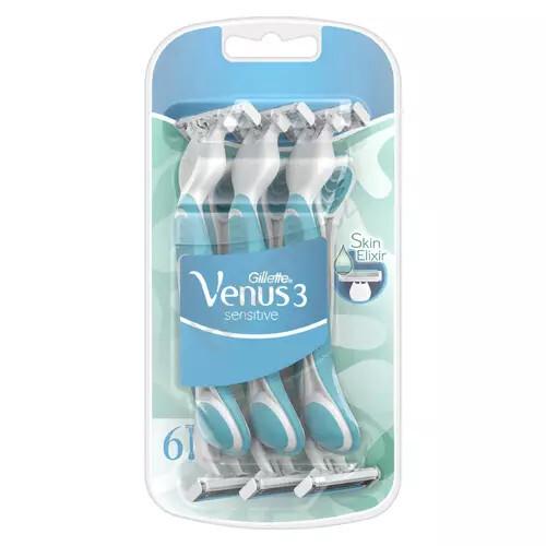 Gillette Jednorázová holítka Venus 3 Sensitive 6 ks