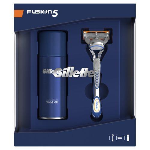Gillette Fusion holící strojek + Fusion hydratačný gél na 75 ml darčeková sada