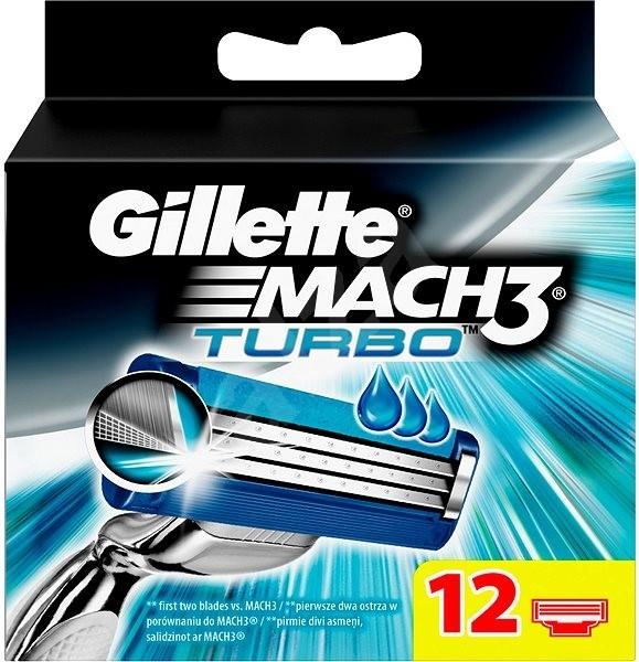 Gillette Náhradné hlavice Mach3 Turbo 12 ks