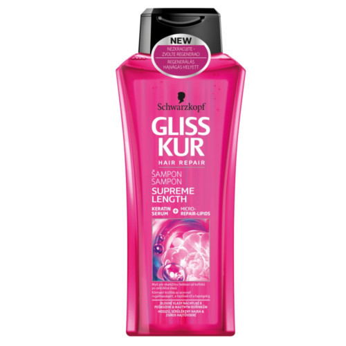 Gliss Kur Regeneračný šampón Supreme Lenght (Shampoo) 400 ml