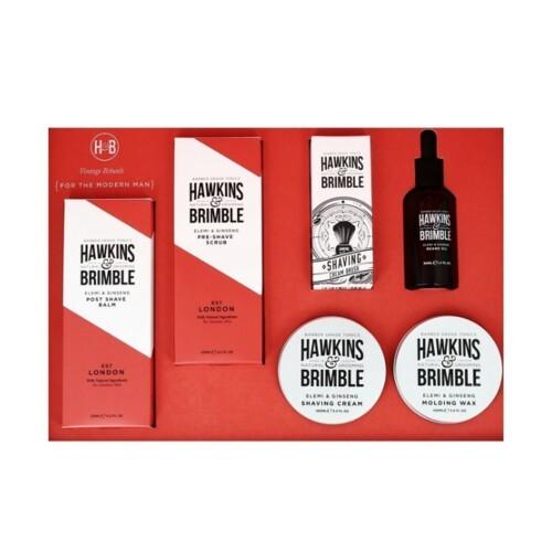Hawkins & Brimble Darčeková sada pleťovej starostlivosti pre mužov s vôňou elemi a ženšenu 6 ks
