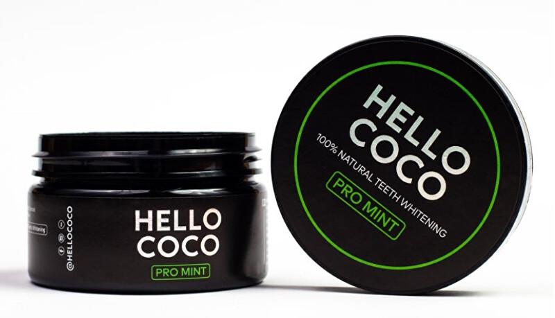Hello Coco Aktivní uhlí na bělení zubů s příchutí máty 100 % Natural Teeth Whitening PRO MINT 30 g