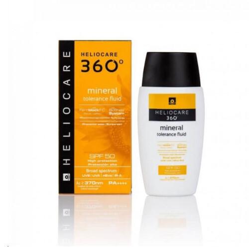 Heliocare Emulze na opalování s minerálními filtry vhodná pro intolerantní pokožku SPF 50 360° (Mineral Tolerance Fluid) 50 ml