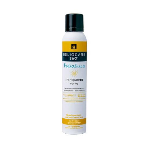Heliocare Transparentní sprej na opalování pro děti 360° SPF 50+ (Pediatrics Transparent Spray) 200 ml