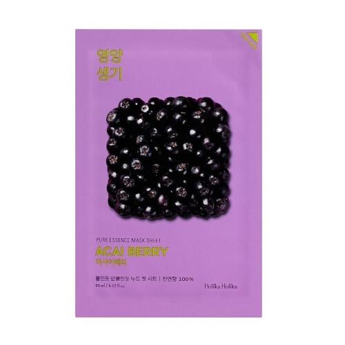 Holika Holika Exfoliační plátýnková maska Acai Berry (Pure Essence Mask Sheet) 20 ml