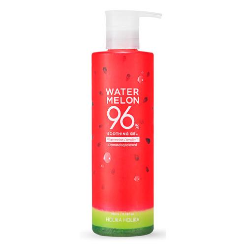 Holika Holika Gel pro hydrataci a osvěžení pleti s výtažky z melounu Water Melon (96% Soothing Gel) 390 ml