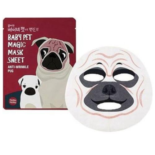 Holika Holika Omlazující plátýnková maska Baby Pet Magic Anti-Wrinkle Pug (Mask Sheet) 22 ml