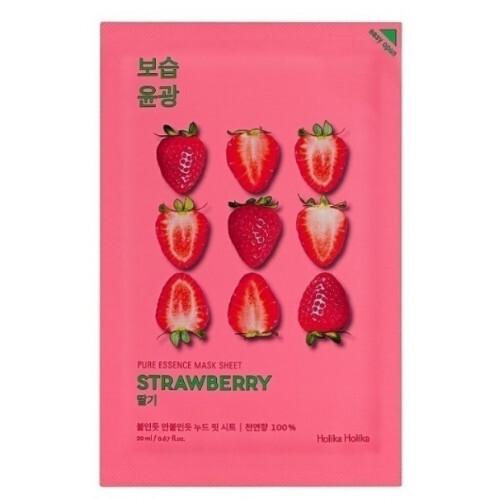 Holika Holika Osvěžující plátýnková maska s výtažky z jahod Strawberry (Pure Essence Mask Sheet) 20 ml